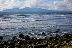 Rocky beach at County Down. Rocky beach at Saint John's point at County Down, Northern Ireland stock images
