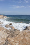 Rocky beach in Croatia Royalty Free Stock Images