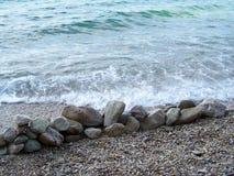 Rocky beach in Croatia. Wild croatian beach with rocks Royalty Free Stock Photography
