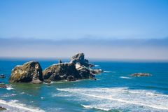 Rocky Beach, Ecola State Park Oregon, USA Royalty Free Stock Photography