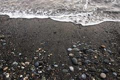 Rocky Beach em Hualien, Taiwan fotografia de stock royalty free