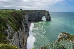 Rocky Beach en Normandie Photographie stock libre de droits