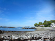 Rocky Beach at Hadlock Cove on Peaks Island Stock Images