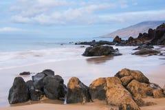 Rocky beach. A rocky beach on the Hawaiin coast Stock Photos