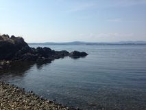 Rocky beach. Islands off of Saanich peninsula Royalty Free Stock Photography