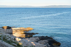 Rocky beach in Istria Royalty Free Stock Photography