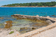 Rocky beach in Istria, Croatia Royalty Free Stock Images