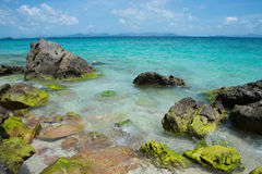 Rocky beach. A rocky beach of kai island in pang-nga province southern thailand Stock Image