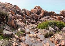Rocky Beach  Landscape at Bunker's Bay Stock Photography