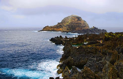 Rocky beach, Madeira island, Portugal royalty free stock photography