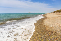 Rocky beach of Maleme on Crete Stock Photography