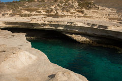 Rocky beach in Malta Royalty Free Stock Photography