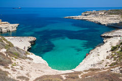 Rocky beach in Malta Royalty Free Stock Photos