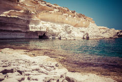 Rocky beach in Malta Stock Images