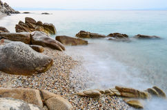 Rocky beach Royalty Free Stock Photos