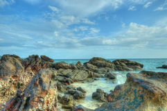 Rocky beach near Phuket island Stock Photos