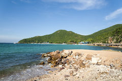 A rocky beach. Royalty Free Stock Photography