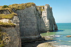 Rocky Beach in Normandy, France Stock Photo