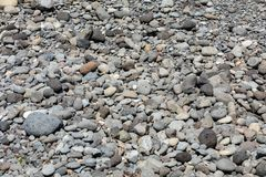 A rocky beach on the north coast of Madeira. Portugal stock photo