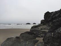 Rocky Beach. A rocky beach on the Oregon coast stock photo