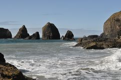 Rocky Beach on the Pacific Ocean stock image