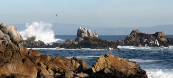 Rocky beach panorama. Rocky beach Royalty Free Stock Photography