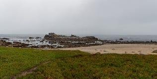 Rocky Beach Panorama Royalty Free Stock Photos