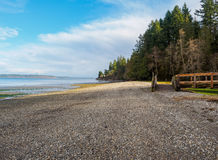 Rocky Beach And Park. Rocky beach along Puget Sound stock photos