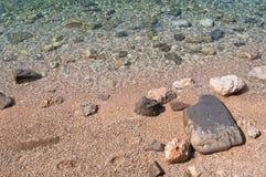 Rocky beach. Podgora, Croatia royalty free stock image