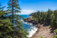 Rocky Beach. On the Coast of Maine Royalty Free Stock Image