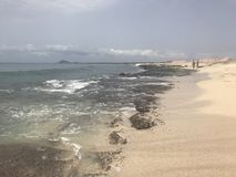 Rocky beach. In sal, Cape Verde Stock Images