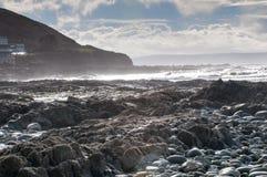Rocky beach scene Stock Photo