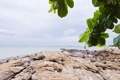 Rocky beach by the sea. Royalty Free Stock Photography