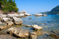 Rocky beach of the sea gulf Royalty Free Stock Photography