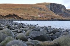 Rocky beach at a Secluded Bay. One of many secluded bays on the Isle of Skye Stock Image