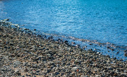 Rocky beach. Selective focus. Stock Photography