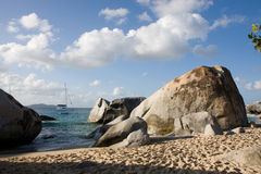 Rocky beach shoreline Stock Images