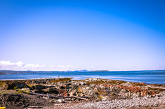rocky beach on the St Lawrence river Royalty Free Stock Photo