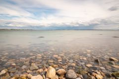 Rocky Beach su Galway South Park fotografia stock libera da diritti