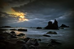 Rocky beach in Tenerife, Canary Islands Stock Image
