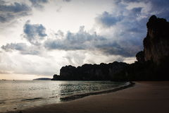 Rocky beach in Thailand. A beautiful rocky beach in asia. Thailand Stock Images