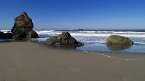 Rocky Beach in Trinidad. California Royalty Free Stock Images