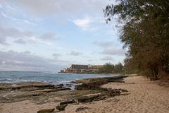 Rocky Beach at Turtle Bay Resort Stock Image