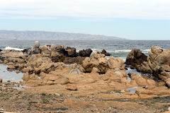 Rocky beach in Vina del Mar. Royalty Free Stock Images