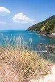 Rocky beach in Waterfall Bay, Koh Lanta,. Krabi, Thailand royalty free stock photos