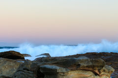Rocky Beach and waves Royalty Free Stock Photography