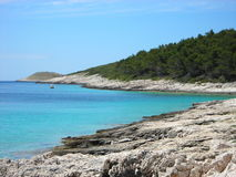 Free Rocky Beach With Turquoise Waters On Hvar Island, Croatia Royalty Free Stock Photography - 53996837