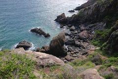Rocky beaches in Nha trang, Van Phong Bay, vietnam Royalty Free Stock Photo
