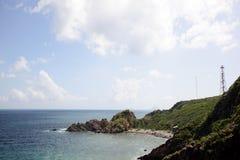 Rocky beaches in Nha trang, Van Phong Bay, vietnam Royalty Free Stock Image