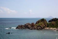 Rocky beaches in Nha trang, Van Phong Bay, vietnam Stock Photo